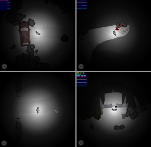 Screenshots x 4 of the game engine.